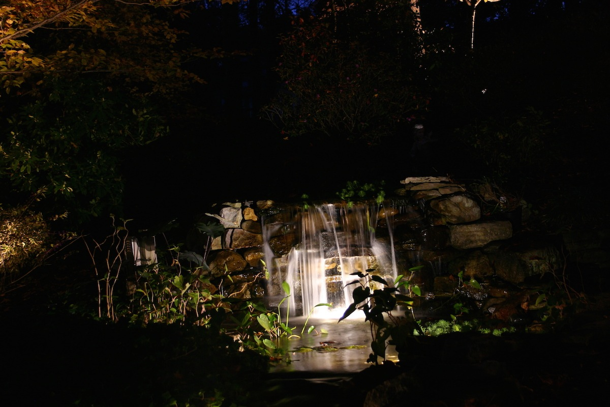 Waterfall Lighting 2 - Virginia Outdoor Lighting